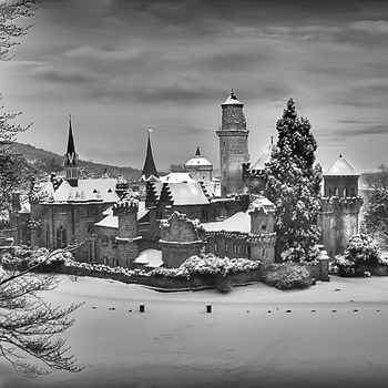 German Castle In Winter | ZEISS ZM C-BIOGON F2.8 35MM