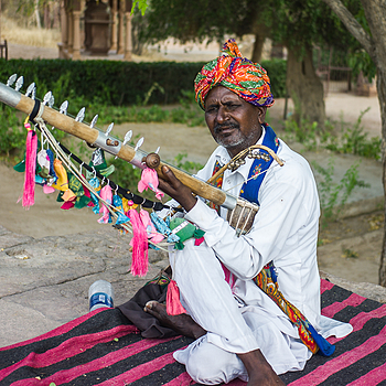 Rajasthan Musician | CV 35MM / F 2.5 COLOR SKOPAR CLASSIC <br> Click image for more details, Click <b>X</b> on top right of image to close